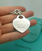 Return To And Co. Extra Large Xl Heart Tag Charm 7.75 Bracelet Hallmarked