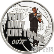 You Only Live Twice 007 Agent Silver Coin 50 Cents Tuvalu 2021