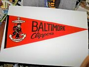 Vintage Baltimore Clippers Ahl Hockey Full Size Pennant 29 Inches Long Rare Find