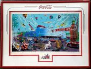 Melanie Taylor Kent The Incredible Coca Cola Race 72/250 With Re-strike Framed