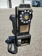 Northern Electric 3 Slot Pay Phone Telephone Vintage Rotary Payphone 1950and039s/60and039s