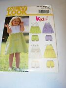 Infant Girl Toddler Uncut New Look 6767 Sewing Pattern Dress Bloomers Size 1/2-4