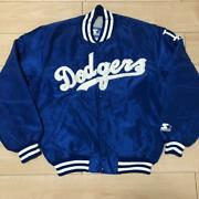 Vintage 90and039s Los Angeles Dodgers Mlb Nomo 16 Starter Jacket Size M Made In Usa