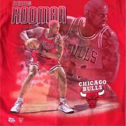 Vintage 90and039s Dennis Rodman Tee T Shirt Size M Red Pro Player Made In Usa Rare