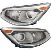 Headlight Set For 2014 2015 2016 Kia Soul Left And Right With Bulb 2pc