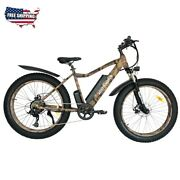 Electric Mountain Ebike 750w 48v Battery 26inch 4.0 Fat Tire Alloy 7 Day Deliver