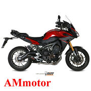 Full System Mivv Yamaha Tracer 900 2016 16 Exhaust Oval Carbon Cap Motorcycle