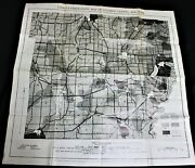Wyoming County New York Land Classification Highway Road Map 1937 Vintage