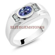 Natural Tanzanite Gemstone With 925 Sterling Silver Ring For Men's Eg1754