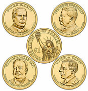 2013 D Presidential One Dollar Coins U.s. Mint Rolls Money Collectibles Coin