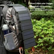 Folding Portable Solar Charger 10w Solar Cells 5v 2.1a For Smartphones