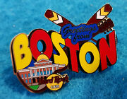 Boston Greetings From Serie Belmont Massachusetts State House Hard Rock Cafe Pin