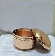 Empty Pure Copper Hammered Candle Jars With Lid 1 Bundle 100 Piece