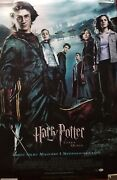 Daniel Radcliffe Signed Harry Potter And The Goblet Of Fire Poster Auto Bas Coa
