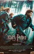 Daniel Radcliffe Signed Harry Potter And The Deathly Hallows Part 1 Poster Bas Coa