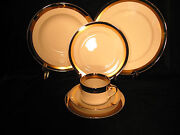 Fitz And Floyd Platine Dand039or Porcelain Dinnerware Vtg Plates Cups Saucers Choice