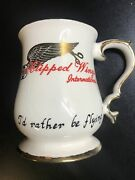 Twa Clipped Wings Coffee Cup Mug Trans World Airlines Flight Vintage 12 Oz