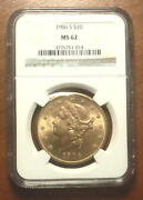 Superb 1906 Gold 20 Double Eagle Liberty Coin Ngc Ms62