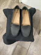 Uggs Ladies Black Leather Loafers Size 7