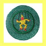 Player Director 1948-52 Girl Scout Badge Rare Old Design String Puppet Patch Euc