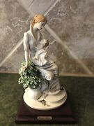 Giuseppe Armani Figurines Maternity With Flowers. Made In Italy