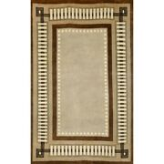 Liora Manne Palermo Modern Border Indoor Rug Brown 8and039 X 10and039