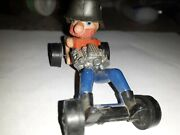 Hot Wheels 1972 Farbs Redline Red Catchup. Missing Arm/goggles.
