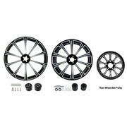 21 Front 18and039and039 Rear Wheel Rim And Dual Disc Hub Belt Pulley Fit For Harley Touring
