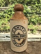 Ginger Beer Bottle C Smith Central Stores Pwllheli North Wales Welsh