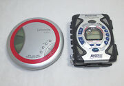 Panasonic - Portable Cd / Cassette Players - Lot Of 2 - For Parts / Repair