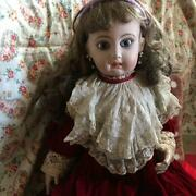 Rare Big Size Bisque Doll Antique Doll Vintage Height 70cm Shipping From Japan