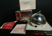 Wallace Christmas Sleigh Bell Ornaments Silver Plate W Box Holiday 1985 15th