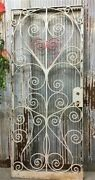 New Orleans Wrought Iron Door, Hand Forged Gate, Art Deco Nouveau French Door, A
