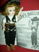 Gorgeous 1940s Vintage Hard Plastic Signed Mary Hoyer Doll, The Westerner Outfit