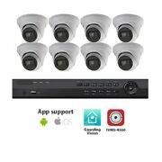Actiview 8ch Dvr System With 8x 8mp Turret Cameras And 3tb Western Digital Hdd