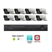 Actiview 8ch Dvr System With 8x 8mp Bullet Cameras And 3tb Western Digital Hdd