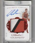 2017-18 Panini Flawless Lauri Markannen Star Swatch Patch Auto Ruby Autograph