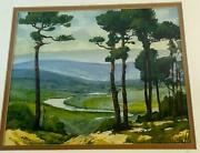 1970 Atwood Lake Ohio Tuscarawas County Watercolor Painting Chester Bratten