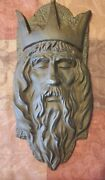 King Arthur Wall Plaque Medieval Cast Iron Knight Mask