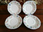 Villeroy And Boch Bone China Mariposa - 4 Beautiful Saucers Ø 5 7/8in
