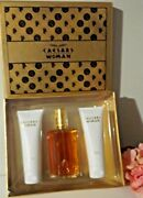 New Caesars Woman Gift Set = Cologne / Body Lotion / Shower Gel 3.3oz Each