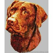 Embroidered Short-sleeved T-shirt - Chocolate Labrador Retriever Dle1608