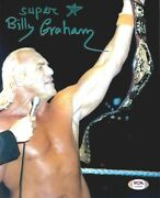 Wwe Billy Graham Hand Signed Autographed 8x10 Photo With Psa Dna Coa Rare 2
