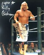 Wwe Billy Graham Hand Signed Autographed 8x10 Photo With Psa Dna Coa Rare 5