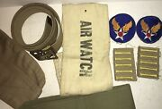 Ww2 Army Air Corps Lot Patches Hat Wwii Air Watch Arm Band Belt Bandoleer