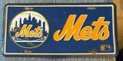 New York 1990and039s Mets Baseball Booster License Plate