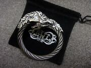 Bill Wall Leather Bwl Cable Hose Head Silver Bangle