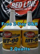 Red Line Synthetic Max Gear Transmission Oil Mt-90 Gl-4 75w90 2 Quart 50304