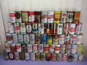 Vtg Steel Tin Pull Top Beer Cans Techbig Catboschmark Vcinci 65 Cans In Lot
