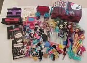 Huge Monster High Doll Lot Parts And Pieces Furniture Accessories Carrying Case